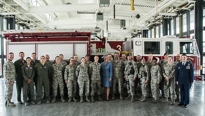 SecAF visits Nevada Air National Guard Base, visits with Airmen