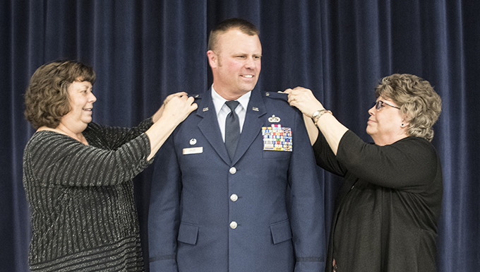 Shaun Cruze promotes to Lt. Col.