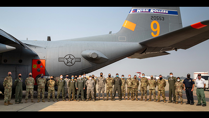 Largest-ever firefighting activation for Nevada Air National Guard continues; unit conducts DoD mission