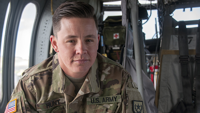 Nevada Army National Guard Sgt. Sam Hunt