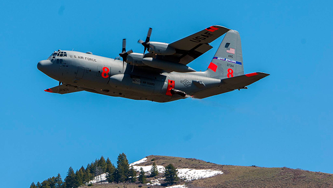 152nd Airlift Wing C-130 MAFFS training
